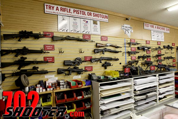The Gun Rental Counter