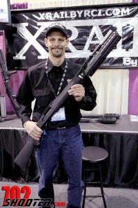 Mark Roth displays the XRail by R.C.I.