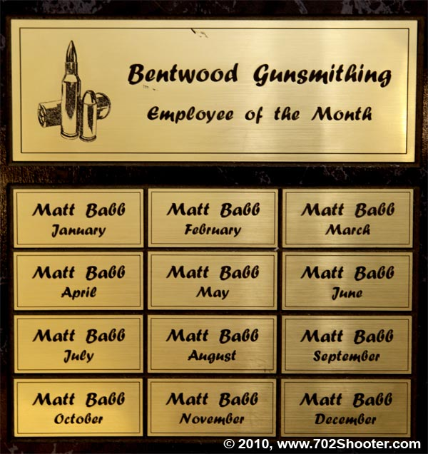 Matt Babb - Employee of the Month