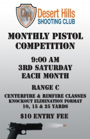 DHSC Monthly Pistol Competition