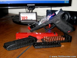 Shot Indicating Resetting Trigger Pistol Disassembled