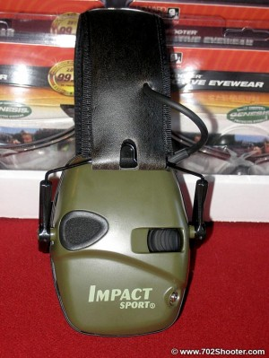 Impact Sport Electronic Earmuffs by Howard Leight Side View