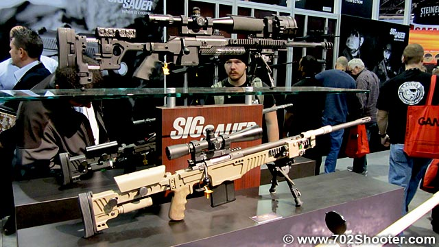 SigSauerSniperRifles Sig Sauer P938, P224, SBR Program, Sniper Rifles, & ACP at 2012 Shot Show