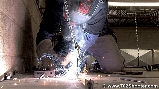 welder Building a Machine Gun Range – MGV Pt. 2