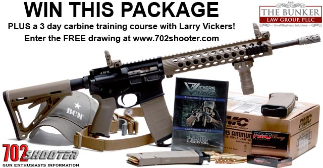 Win the FREE AR-15 Package PLUS 3 Day Larry Vickers Carbine Training Course