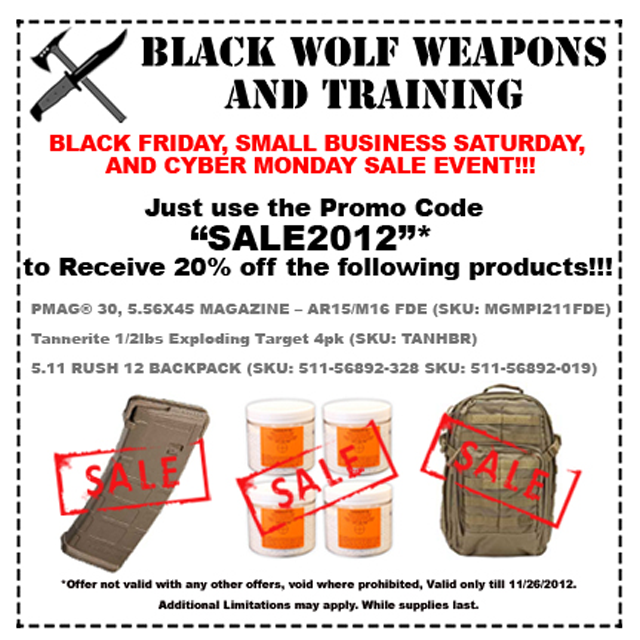 BlackWolf 2012 Black Friday Deals