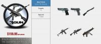 3 Gun package at Machine Guns Vegas