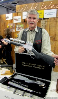 Wild West Guns Jim West with his Co-Pilot Lever Action Break Down Rifle